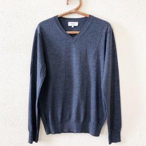 Frank And Oak Wool V-Neck Sweater L